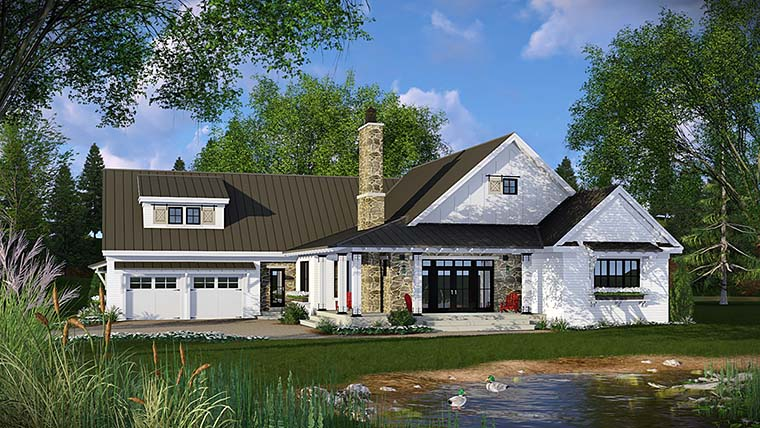 Country Farmhouse French Country Traditional House Plan 42682 Elevation