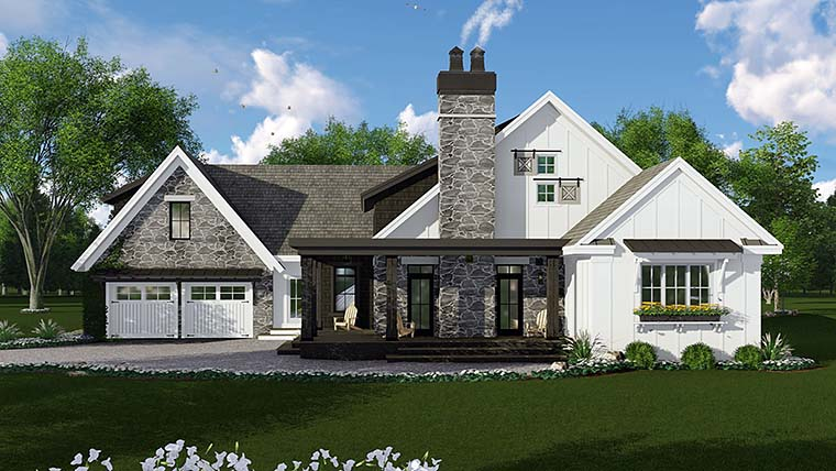 Bungalow Cottage Country Craftsman Farmhouse Traditional House Plan 42685 Elevation