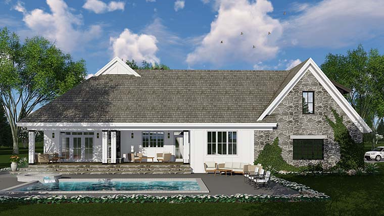 Bungalow Cottage Country Craftsman Farmhouse Traditional House Plan 42685 Rear Elevation