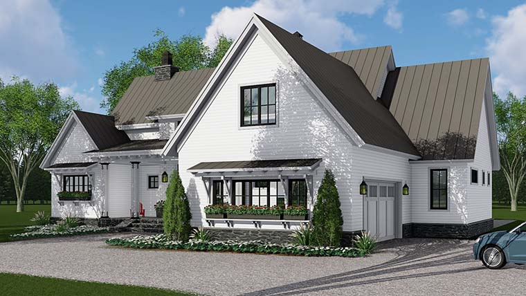 Country, Farmhouse, Southern, Traditional House Plan 42688 with 3 Beds, 3 Baths, 2 Car Garage Picture 2