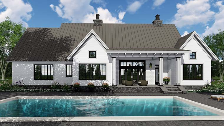 Country, Farmhouse, Southern, Traditional House Plan 42688 with 3 Beds, 3 Baths, 2 Car Garage Picture 5