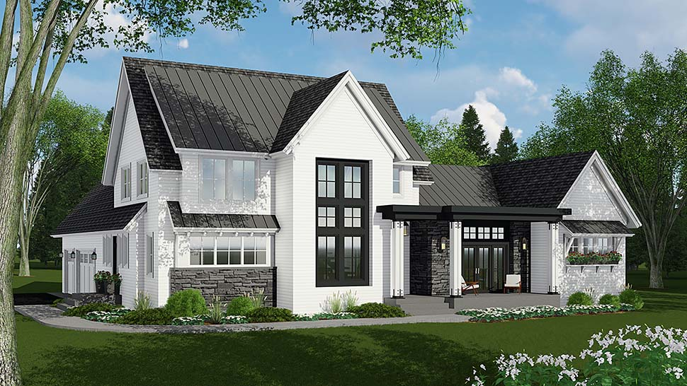Country, Farmhouse House Plan 42693 with 4 Beds, 4 Baths, 3 Car Garage Elevation
