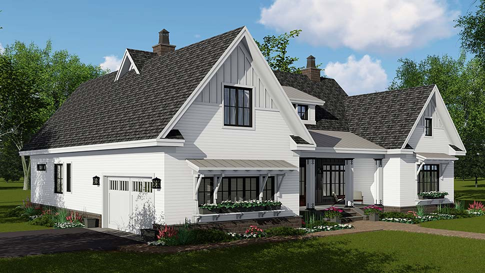 Country, Craftsman, Farmhouse House Plan 42697 with 4 Beds, 4 Baths, 2 Car Garage Picture 2