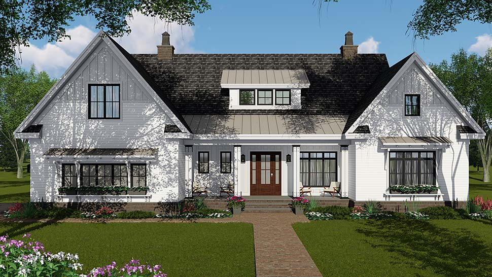 Country, Craftsman, Farmhouse House Plan 42697 with 4 Beds, 4 Baths, 2 Car Garage Picture 3