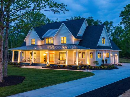 Country, Farmhouse, Traditional House Plan 42698 with 4 Beds, 4 Baths, 3 Car Garage