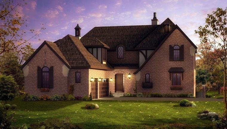 European Traditional House Plan 42806 Elevation