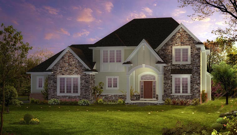 European Traditional House Plan 42808 Elevation