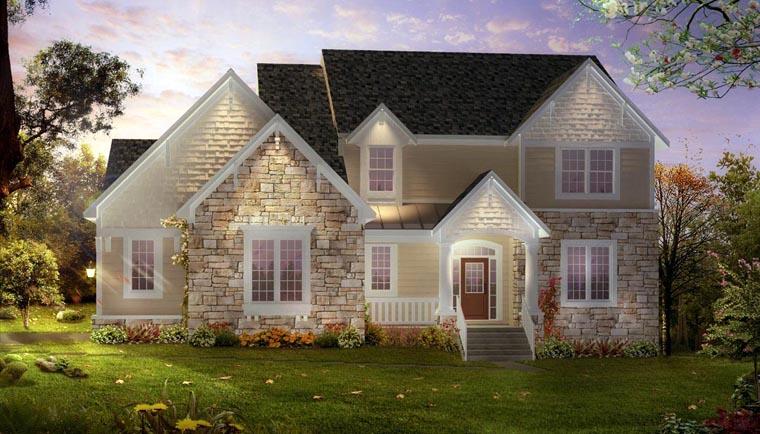 European Traditional House Plan 42818 Elevation