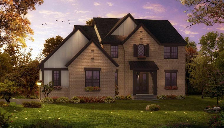 European French Country Tudor House Plan 42822 Elevation