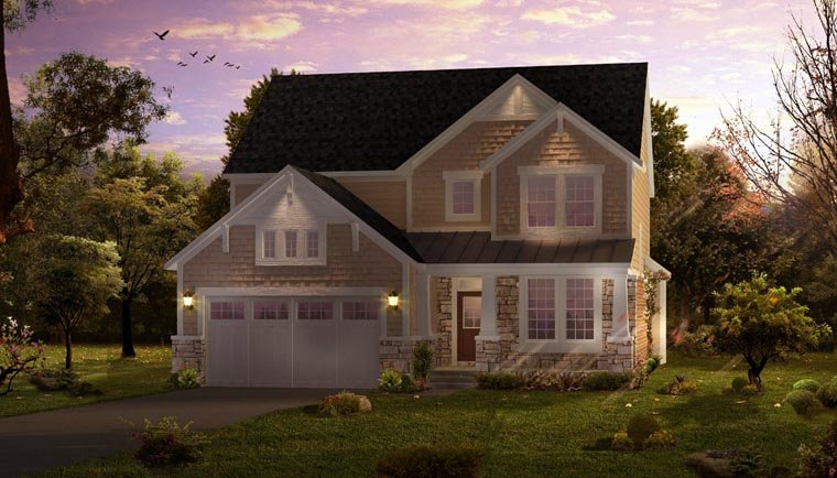 Cottage Country Craftsman Farmhouse Traditional House Plan 42827 Elevation