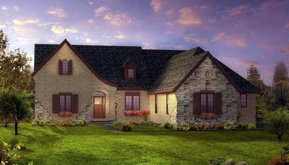European, Tudor House Plan 42830 with 3 Beds, 3 Baths, 3 Car Garage Elevation