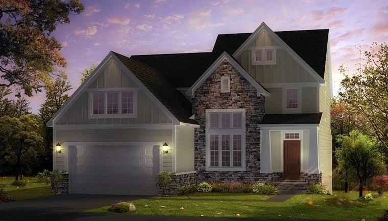 Craftsman Traditional House Plan 42834 Elevation