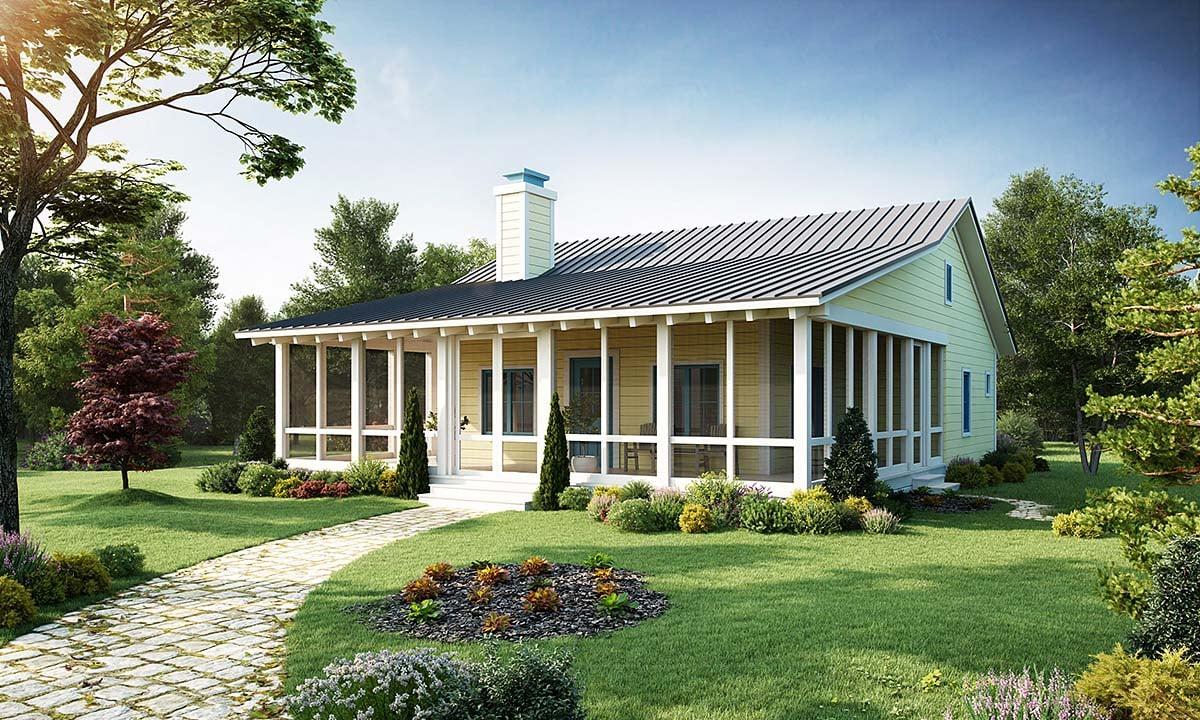 Cabin Cottage House Plan 43203 Elevation