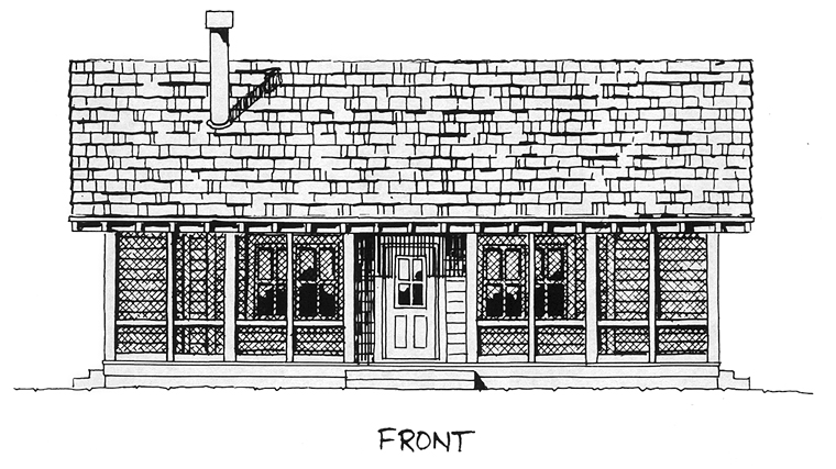 Cabin Cottage House Plan 43203