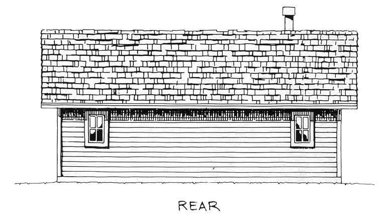 Cabin Cottage House Plan 43203 Rear Elevation