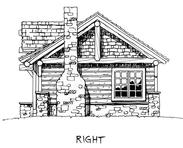 Cabin, Cottage, Craftsman House Plan 43204 with 2 Beds, 2 Baths Picture 7