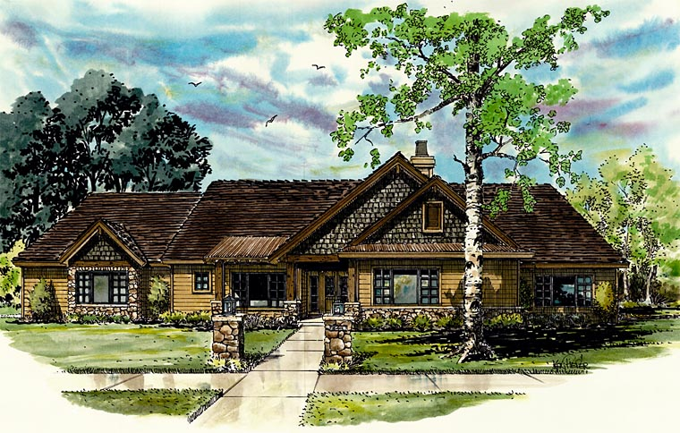 Ranch House Plan 43207