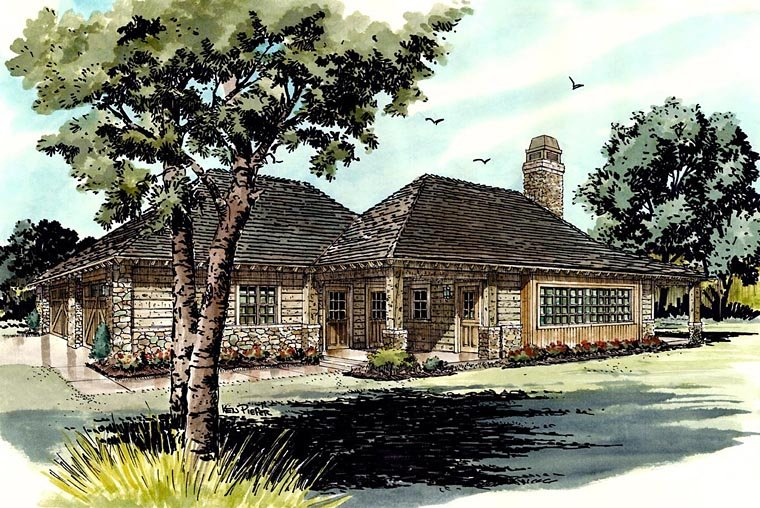 Country Ranch House Plan 43215 Elevation