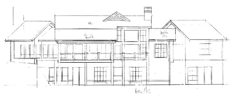 Cabin Log House Plan 43218 Rear Elevation