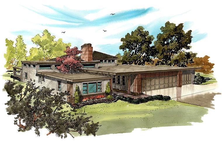 Contemporary Modern House Plan 43233 Elevation