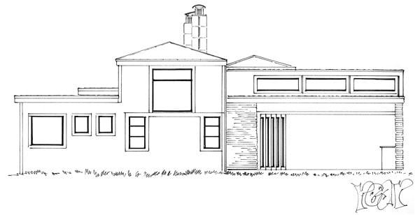 Contemporary Modern House Plan 43233 Rear Elevation
