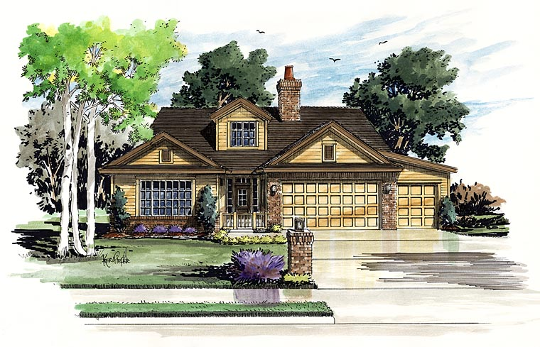 Traditional House Plan 43234 Elevation