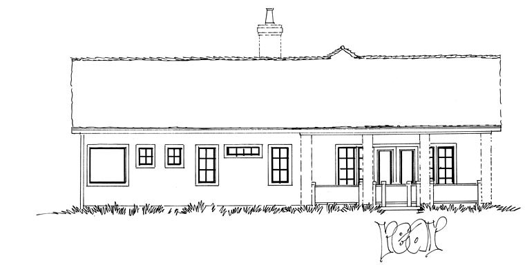 Traditional House Plan 43234 Rear Elevation