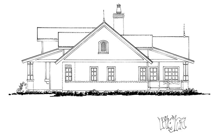Country, Farmhouse, Traditional House Plan 43245 with 3 Beds, 3 Baths, 3 Car Garage Picture 1