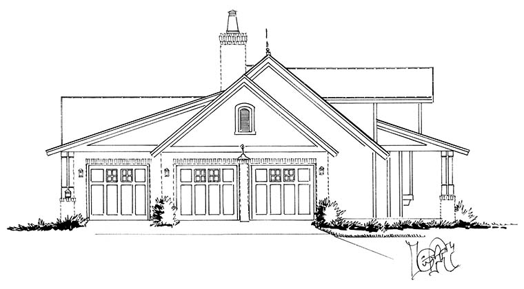 Country, Farmhouse, Traditional House Plan 43245 with 3 Beds, 3 Baths, 3 Car Garage Picture 2