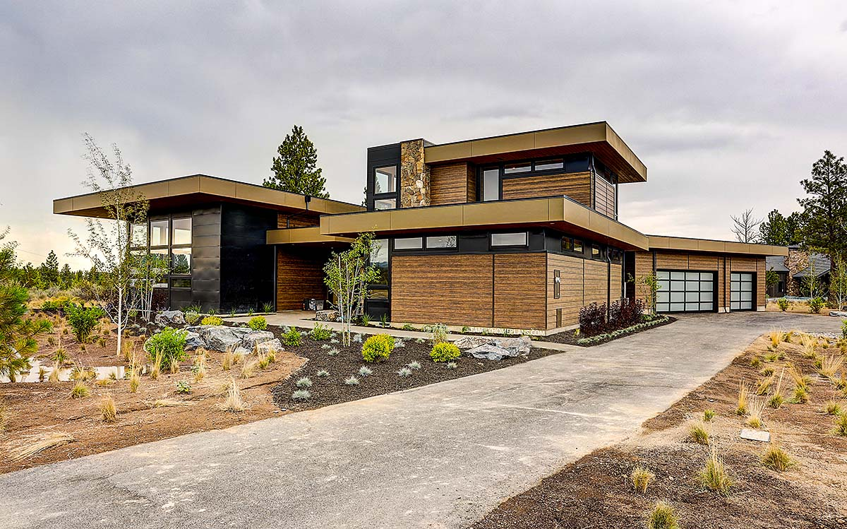 Contemporary House Plan 43331 with 4 Beds, 5 Baths, 3 Car Garage Elevation