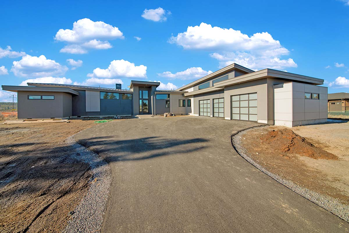 Contemporary, Modern House Plan 43333 with 4 Beds, 4 Baths, 3 Car Garage Elevation