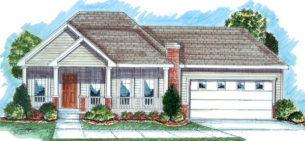 Traditional House Plan 44021 Elevation