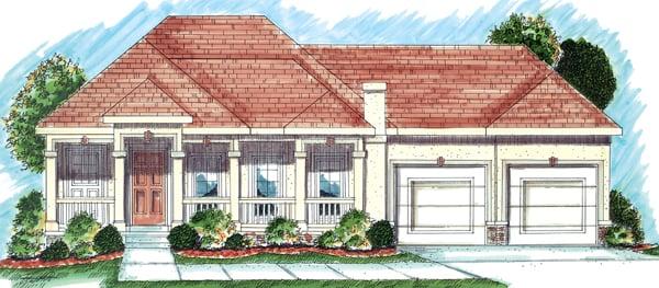 Florida Mediterranean Southwest House Plan 44022 Elevation