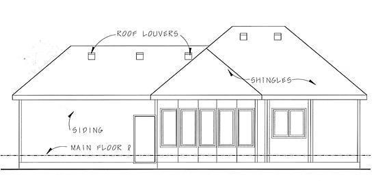 Florida Mediterranean Southwest House Plan 44022 Rear Elevation