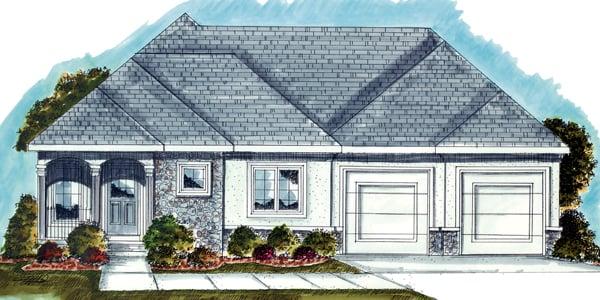 Mediterranean House Plan 44029 Elevation