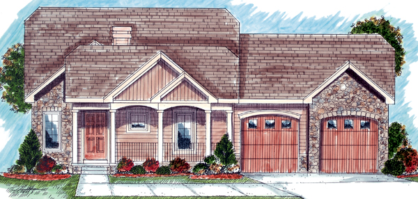 Bungalow Traditional House Plan 44030 Elevation