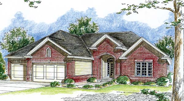 Traditional House Plan 44052 Elevation