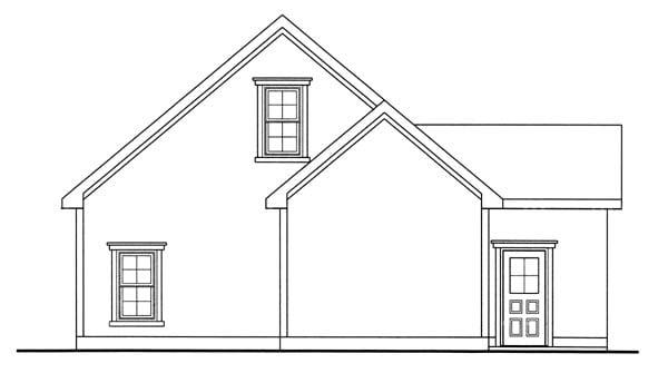 Garage Plan 44059 Rear Elevation