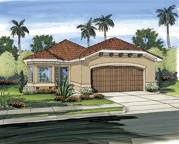 House plan 44090 at for Mediterranean style modular homes