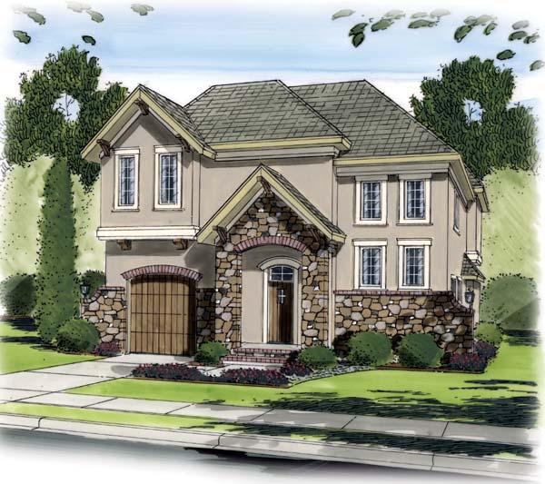 European Traditional House Plan 44096 Elevation