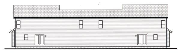 Craftsman Multi-Family Plan 44102 with 6 Beds, 6 Baths, 4 Car Garage Rear Elevation