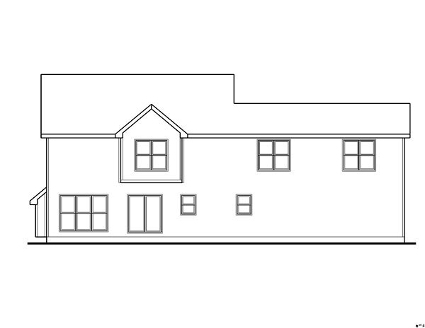 Farmhouse, Traditional House Plan 44117 with 3 Beds, 3 Baths, 3 Car Garage Rear Elevation