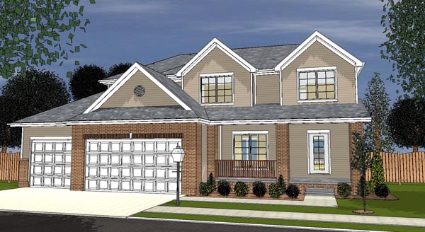 Traditional House Plan 44118 Elevation