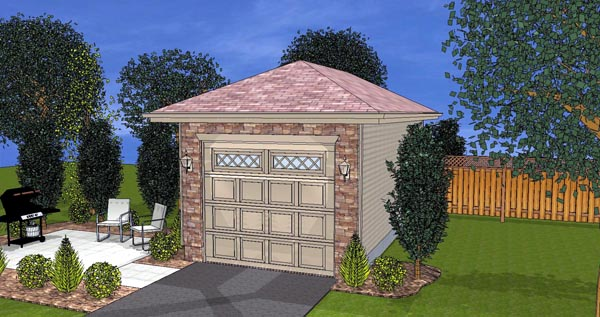 Elevation of Garage Plan 44121
