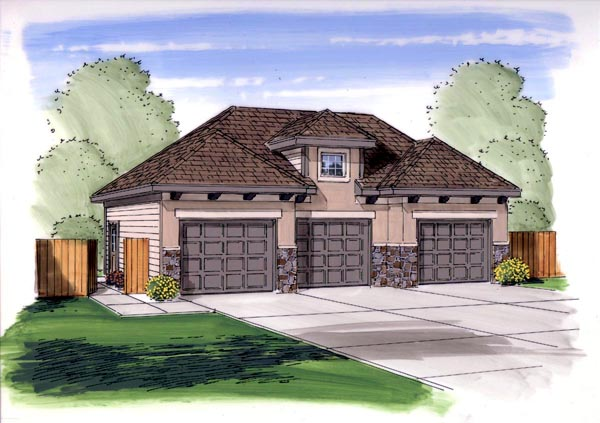 Garage Plan 44148 At Familyhomeplans Com