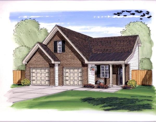 Farmhouse Traditional Garage Plan 44149 Elevation