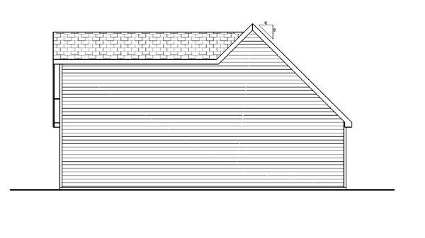 Farmhouse Traditional Garage Plan 44149 Rear Elevation