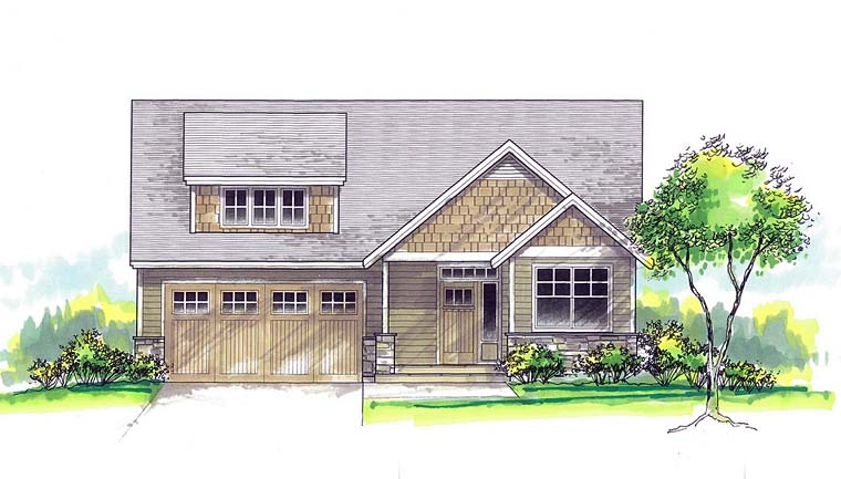 Cottage Country Southern Traditional House Plan 44502 Elevation