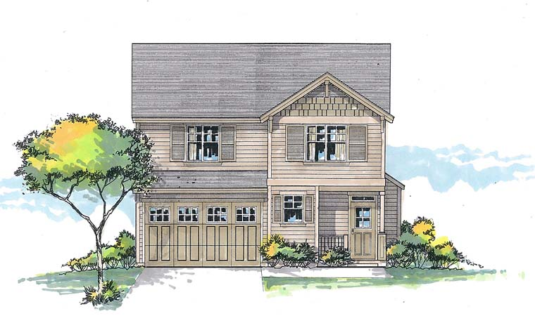Craftsman Southern Traditional House Plan 44507 Elevation