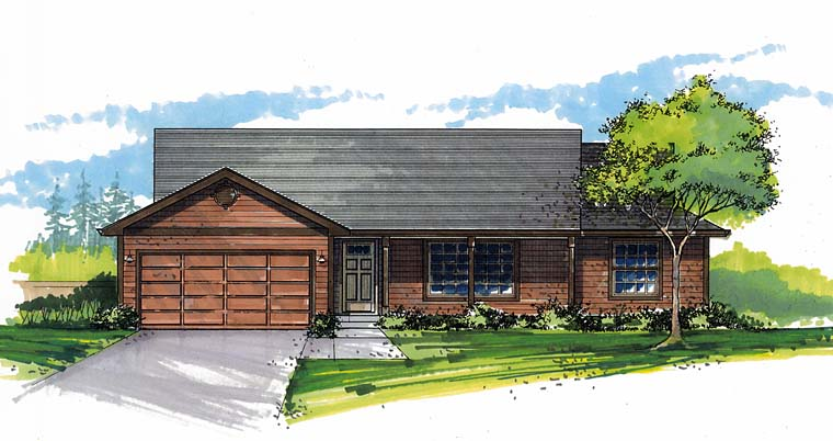 Ranch Traditional House Plan 44516 Elevation